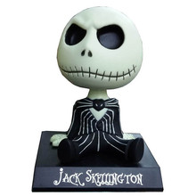 FUNKO The Nightmare Before Christmas Jack Wacky Wobbler Bobble Head PVC Action Figure Collection Toy Doll 23(China (Mainland))