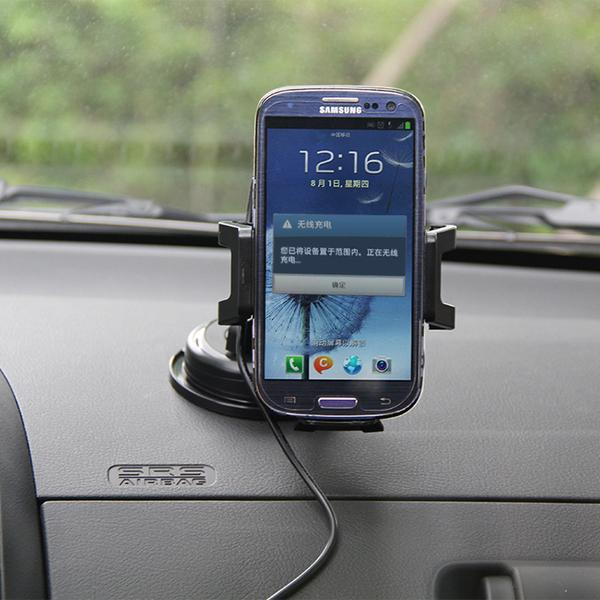 Universal Qi Car Holder Wireless Charger Charging Pad for iPhone 5 5S 6 Plus Nokia Lumia 920 LG Nexus Samsung S5 S4 Note 4 3