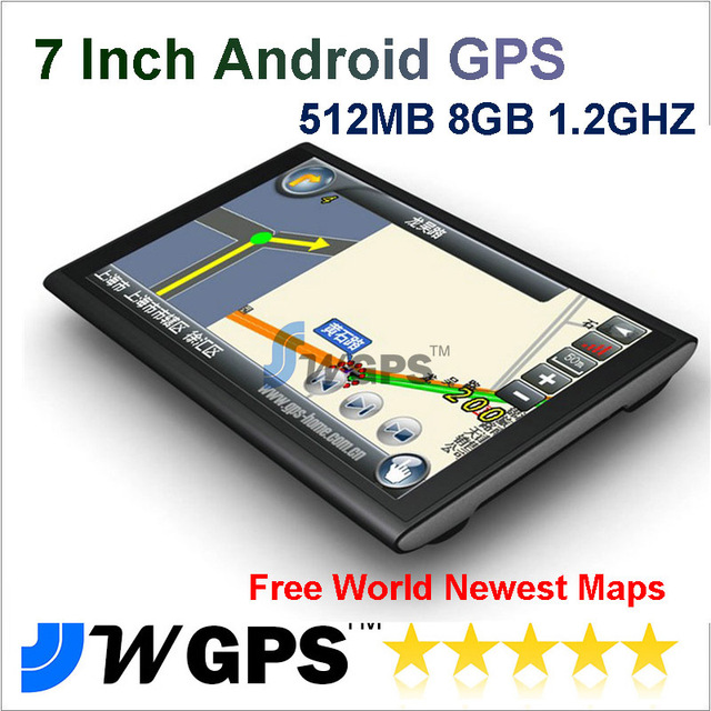 "7"" GPS Navigation with WIFI 8GB Android 4.0 Car GPS Navigation Allwinner A13 1.2GHZ SDRAM 512MB (7020AV)"