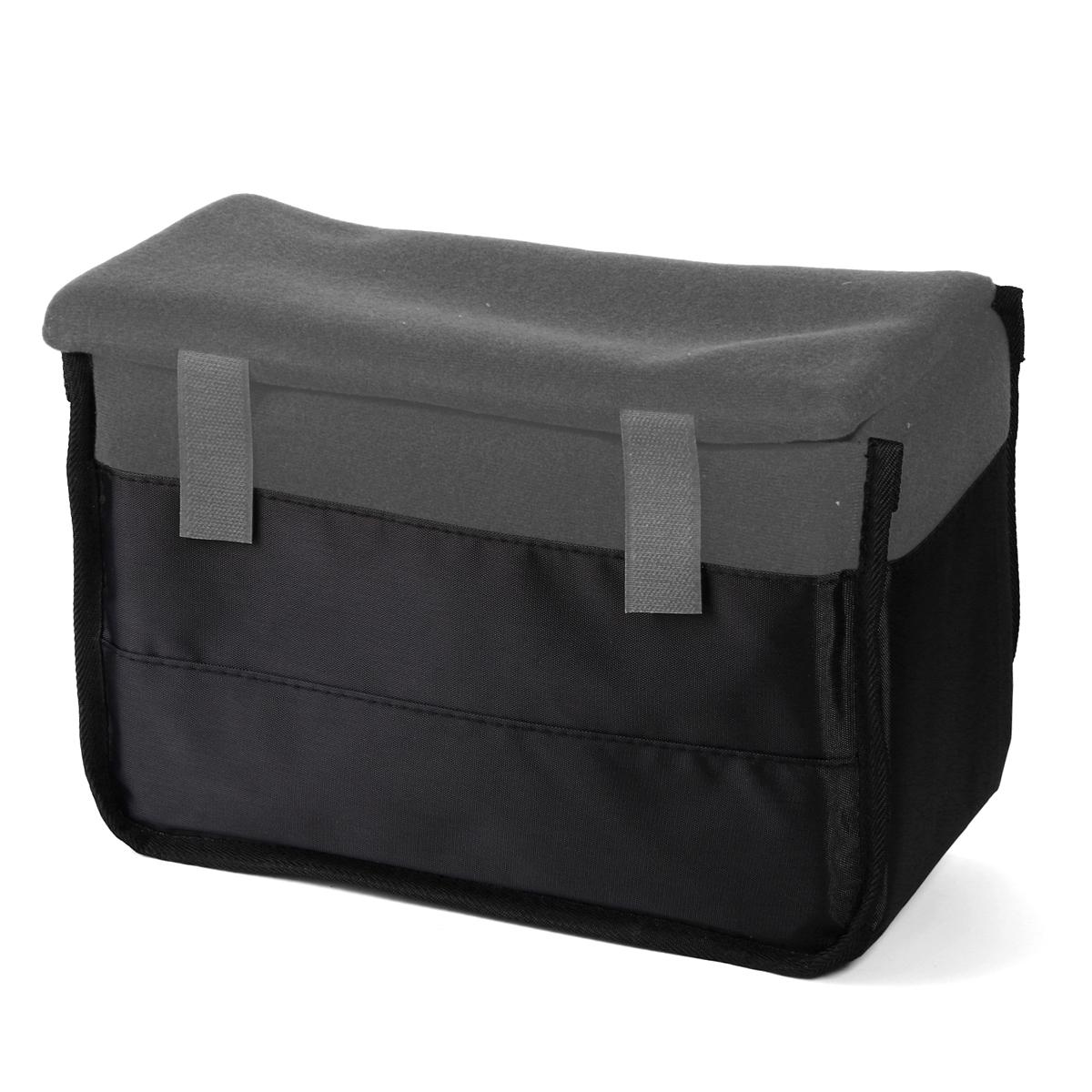 Insert Padded Camera Bag DSLR Inner Folding Divider Partition Protect Case Gray LF680(China (Mainland))