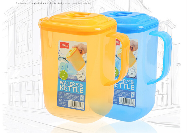 2015 Good Thermos Plastic 1.5L Water Kettle Cooker Camping Kettles Whistling Water Teapot Cooking Tools F1114(China (Mainland))