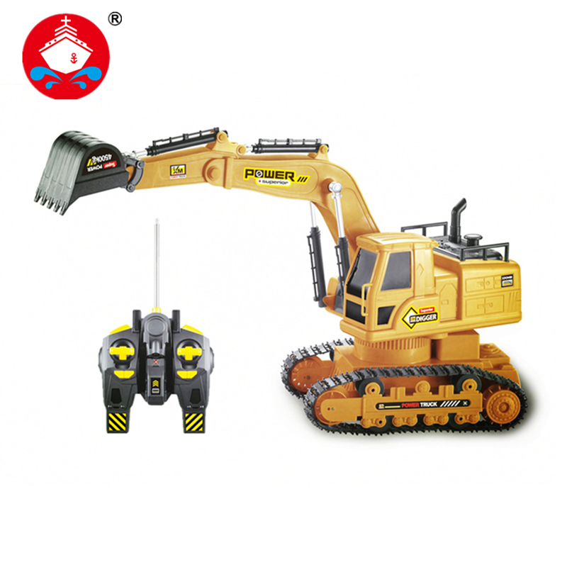 RC Truck 7CH Remote Control Rc Tanks Simulation Engineering Truck Excavator For Kids Christmas Gif Construction Model Toys 6811L(China (Mainland))