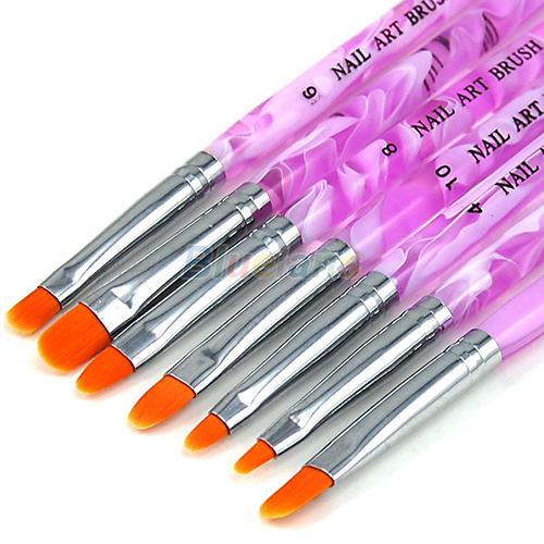 20pc Nail Art Design Painting Dotting Pen Brushes Tool Kit Set: New UV Gel Acrylic Nail Art Builder Brush Pen Painting