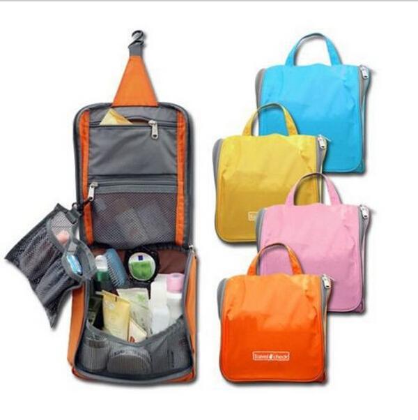 Woman Travel Toiletry Bag Set Practical Wash Hanging Folding Bag Storage Travel Makeup Kit Men Women Waterproof Cosmetic Bags(China (Mainland))