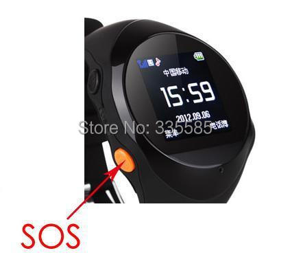 Guaranteed 100% High Quality Bracelet GPS Personal Locator GPS Positioning Tracker Watch Quad Band SOS Cellphone SMS Message(China (Mainland))