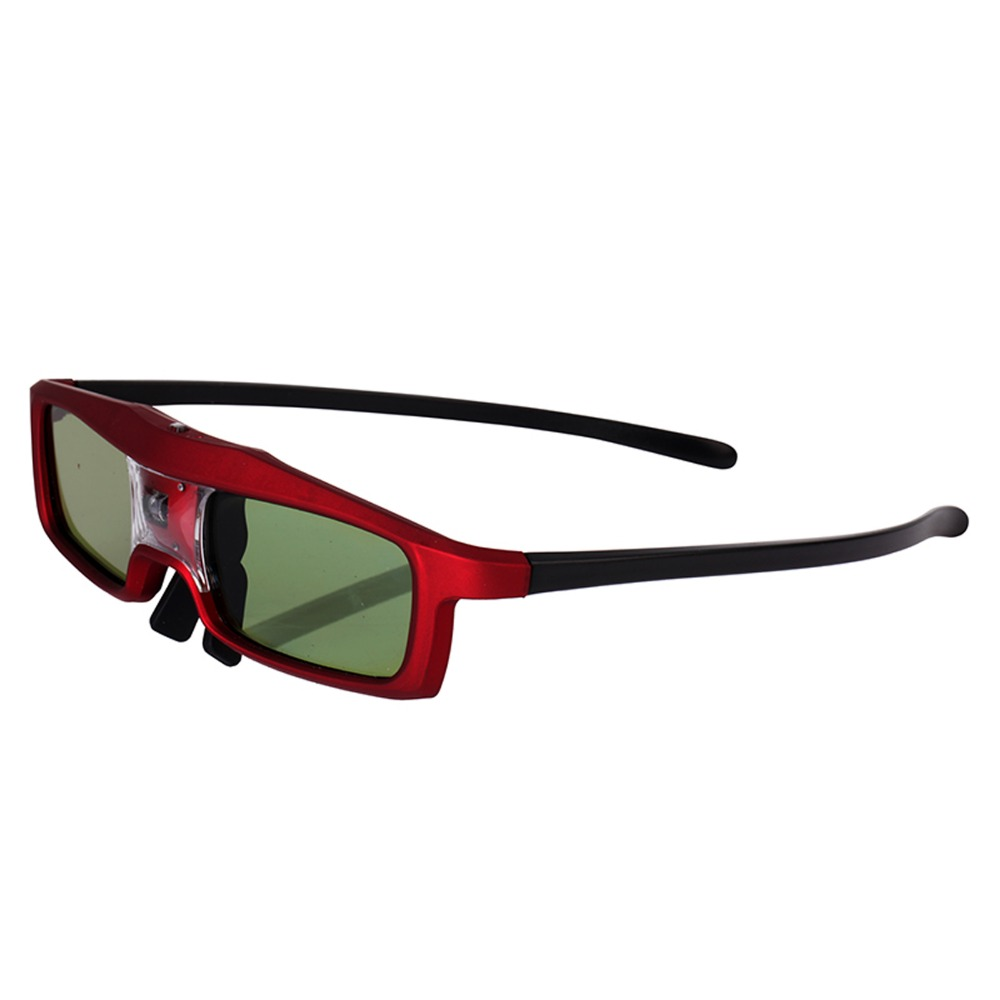red 144Hz 3D IR Active Rechargeable Shutter Glasses for Acer ViewSonic BenQ Vivitek Optoma 3D DLP-Link Ready Projector (red)(China (Mainland))