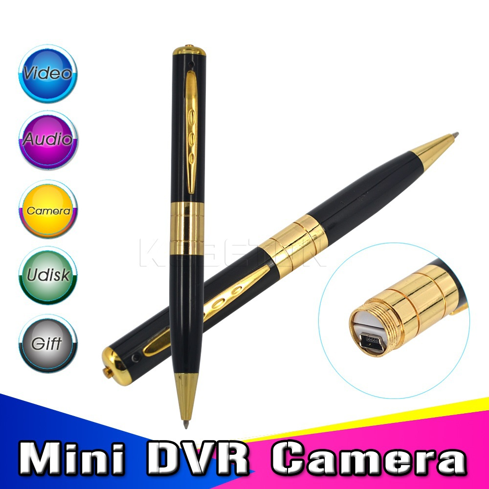 2015 Attractive original delicate gold micro camera pen dvr mini dv camaras video 720*480 hd pen camcorder recorder(China (Mainland))