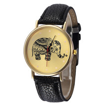 6 Color Fashion Casual Roman Elephant Patterns Leather Band Analog Quartz Vogue Wrist Watches relogio feminino