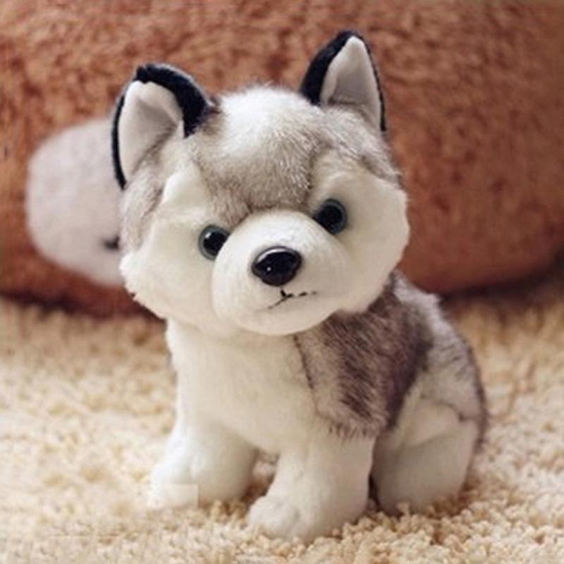 Lovely Simulation Husky Dog Stuffed Animals Plush Toys Cushions Gifts Plush Animals speelgoed FCI#(China (Mainland))