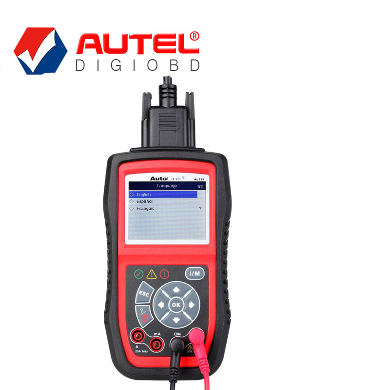 100% Autel AutoLink AL539B Code Reader & Electrical and Battery Test Tester Auto Dianostic Tool DHL Free Shipping(China (Mainland))
