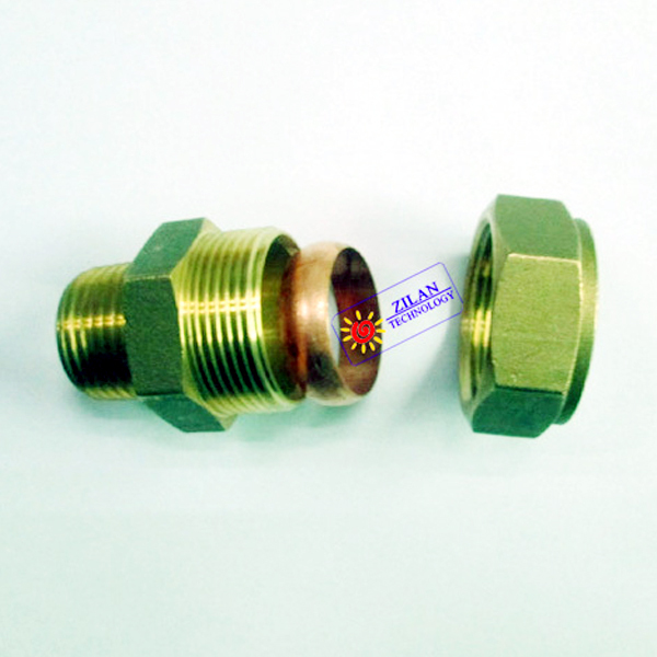 """1"""" copper connector for solar thermal collector solar water heater solar boiler solar water heating system(China (Mainland))"""