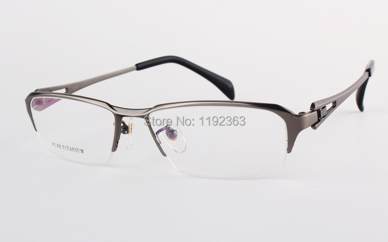 Glasses Frames Large Sizes : 100% Pure Titanium Comfortable Myopia Glasses Men Large ...