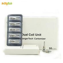 5pcs Electronic cigarette Coil E cigarette replacement atomzier Dual coil for M14 M16 T3D vaporizer coil e cigs core