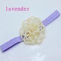 NEW arrival pearl rose Flower FOE Headbands Baby girl DIY crown Hairbands kids Newborn hair accessories
