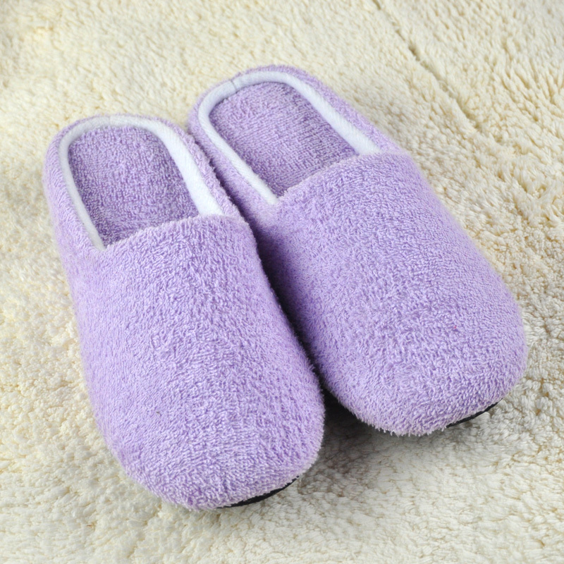 Autumn and winter Women 100% cotton towel slippers at home soft slip-resistant outsole slippers derlook japanese style thermal(China (Mainland))