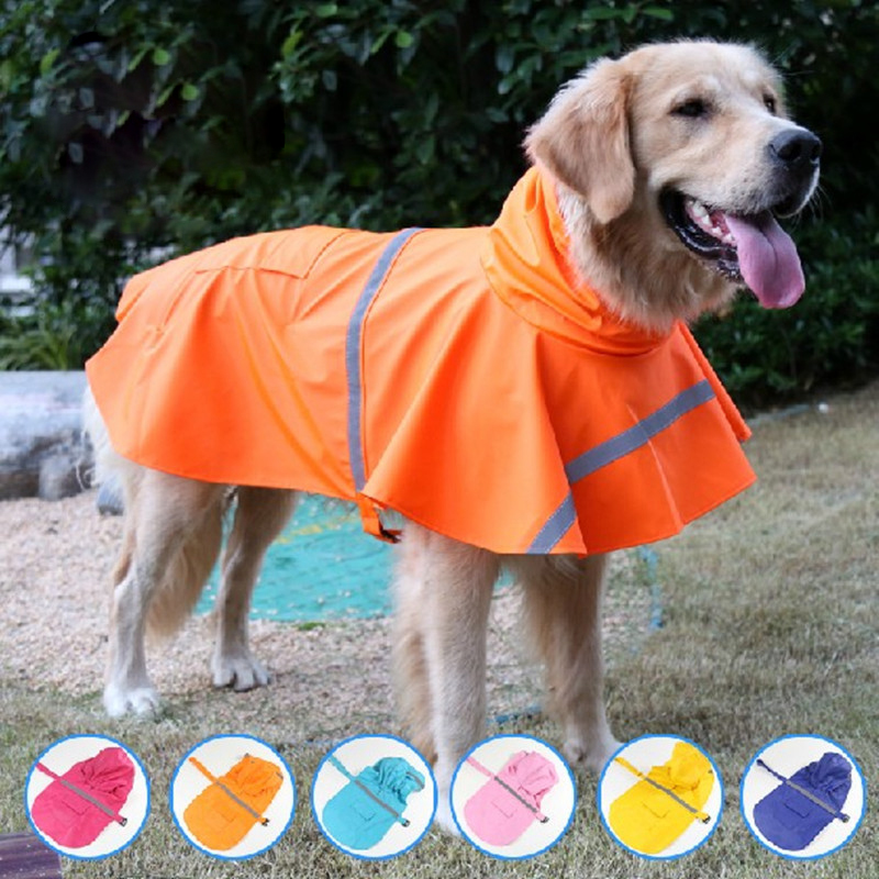 2017 New Pet Dog Raincoat Waterproof Rain Raincoat Jacket Glisten Bar Large Dogs Teddy Dog Clothes Free Shopping(China (Mainland))