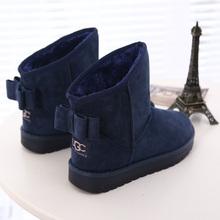 2015 recién llegado de invierno nieve botas moda arco cortas antideslizantes térmicas zapatos de algodón acolchado mujeres Fur dentro botín caliente(China (Mainland))