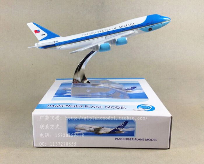 Free shipping United States Air force one B747-400 Airlines plane model 16cm child toy Birthday gift metal(China (Mainland))