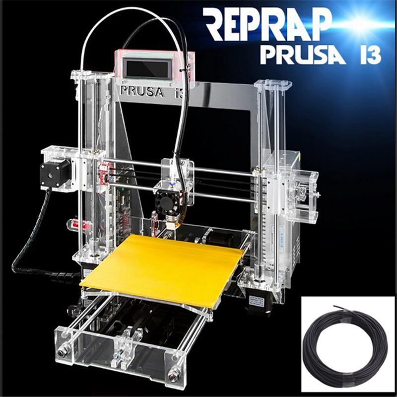 2016 Reprap Prusa I3 Printer 20meters fliament samples+SD Card as gift full kit from China(China (Mainland))