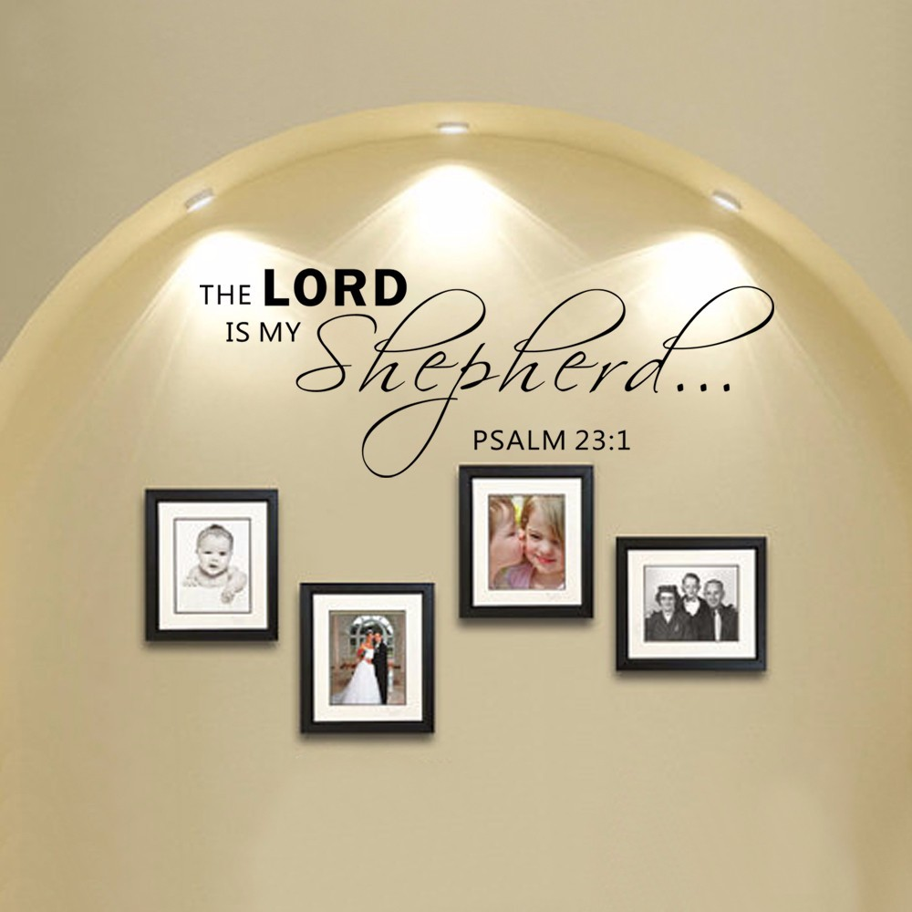 Psalms wall decals christian wall decals ine walls - Scripture Wall Decals The Lord Is My Shepherd Psalm 23 1 Vinyl Wall