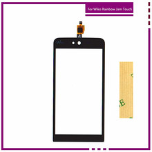 Buy 5.0 Inch Mobile Phone Touch Panel Glass Touchscreen Sensor Wiko Rainbow jam Touch Screen Digitizer+3M Stickers+Tracking for $6.00 in AliExpress store