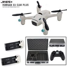 Free Shipping! Hubsan X4 Camera Plus H107C+ 2.4G 4CH HD 720P RC Drone w/2 Battery+Portable Case