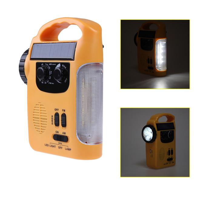 New mini fm radio Solar Lantern AM FM internet radios Siren Flashlight Hand-crank Reading Light high quality free shipping(China (Mainland))
