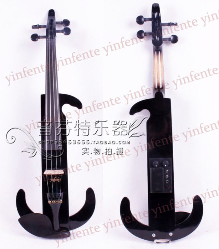 Quality electro-acoustic violin electronic violin black wood ebony<br><br>Aliexpress