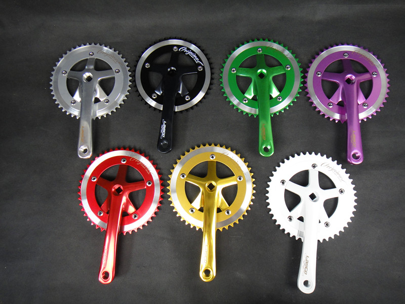Single speed bicycle road bike lasco crank chainwheel certified products 46T aluminum color anode crank suit sprocket(China (Mainland))