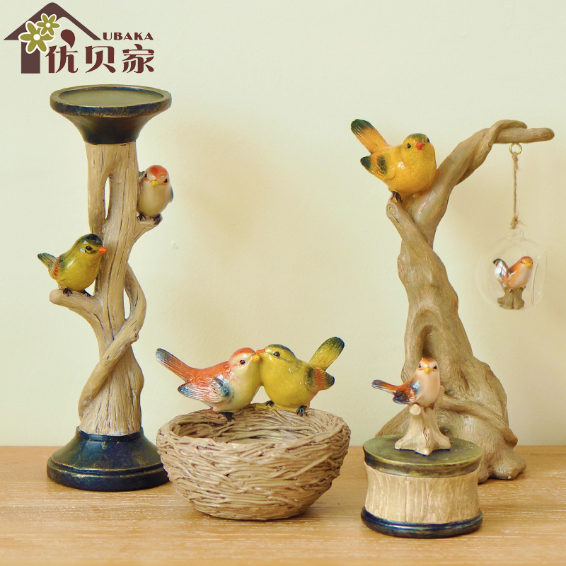 European creative home decorations bird handicraft living room upscale office ornaments upscale wedding gift items(China (Mainland))