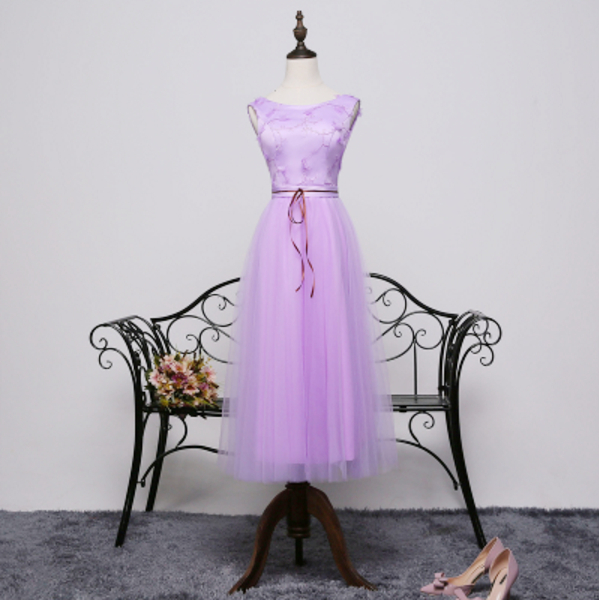 special occasion cheap lilac short purple modest pageant tea prom dresses 2016 $50 girl dress S3698 - I And You Story store