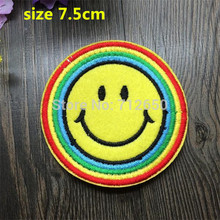 Buy DK 2015 New arrival 10 pcs smiling face Embroidered patches iron cartoon Motif Applique embroidery accessory 201501 for $3.70 in AliExpress store