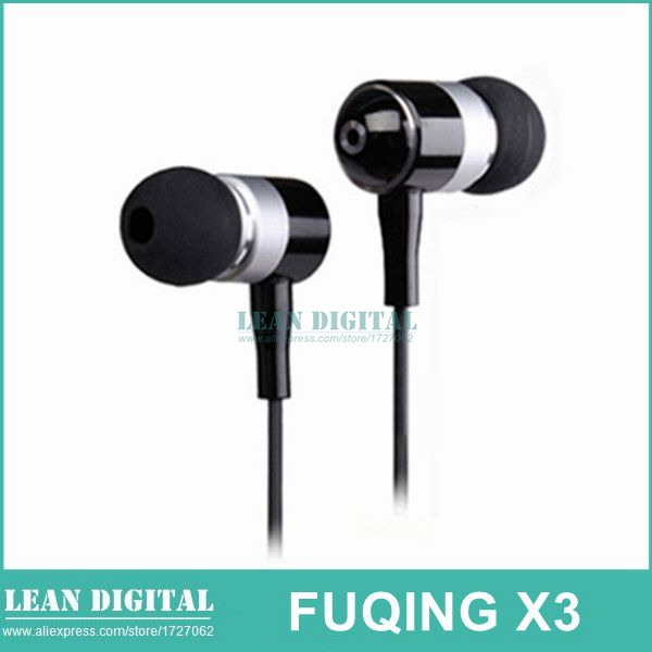 product Free Shipping Fuqing X3 Mobile Phone Headphones with Microphone Subwoofer Metal Wire Heatshrinked Moodles Ear Headset Earphones