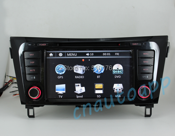 Car Navigation In-Dash GPS With DVD Player  Radio For NISSAN QASHQAI XTRAIL 2014<br><br>Aliexpress