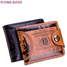 Buy Flying birds men Wallet short dollar price Leather Wallets Clutch money purse men bags high credit card holder LM3854fb for $4.40 in AliExpress store