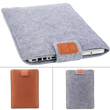 2016 High quality Fashion Felt Pure Color Pad/Laptop Case Pad/Laptop Protection Cover Liner Sleeve For man women student(China (Mainland))
