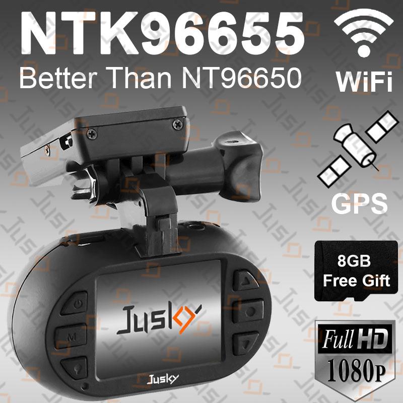 Jusky Mini 0903 Novatek 96655 Car Dash Camera Better Than Novatek 96650 Dash Cam 100% Real Full HD 1080P DVR Support WiFi GPS(China (Mainland))