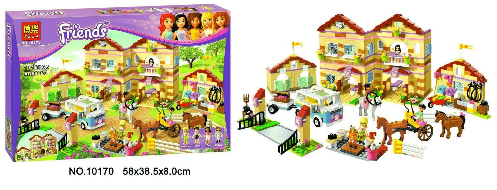 Фотография Bela 10170 Friends Series Housework Time Panorama Minifigures Building Block Minifigure Toys Best Legoelieds Toys
