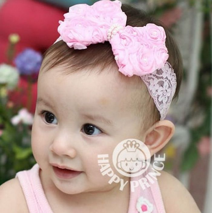 infant flower headband babies pearl lace hairband toddler infant flower headband babies pearl lace hairband toddler