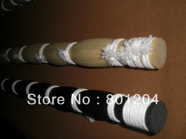 500 grams black horse hair and 500 grams white horse hair both 32 inches