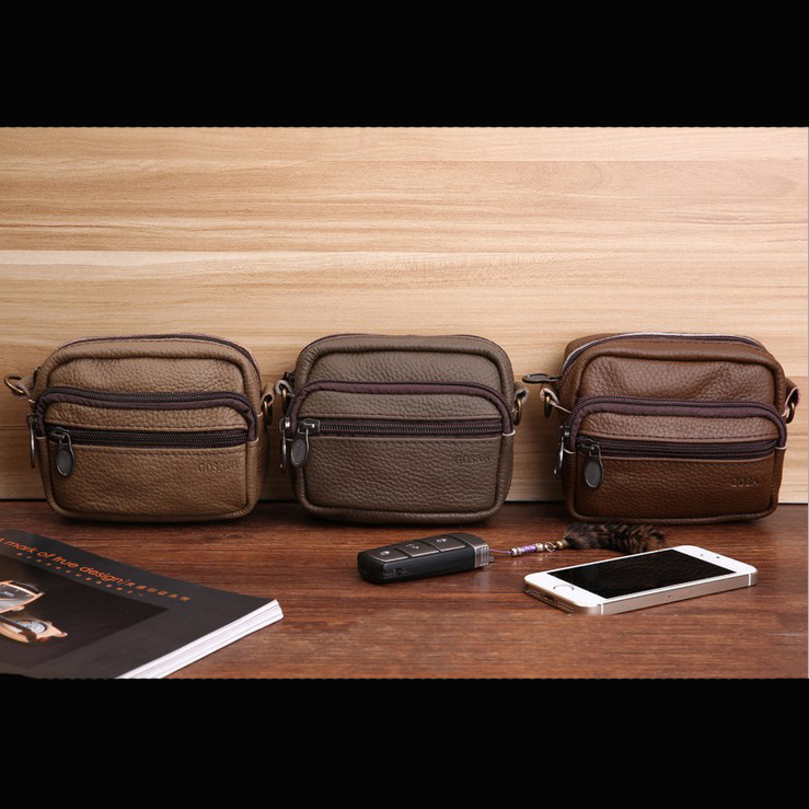 !New Hot-selling Genuine Leather 4 colors Waist Packs Outdoor Fashion Bags C3412 - Fiona's Wallet and Bag Store store