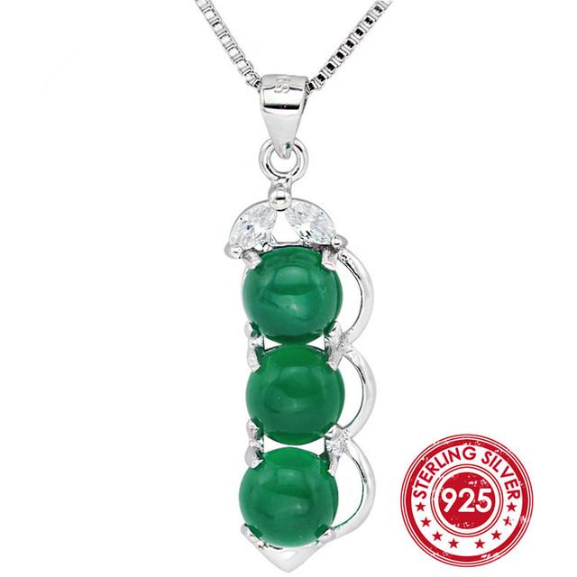 Зеленый драгоценный камень россии изумрудный подвеска для женщин любовь стерлингового ...