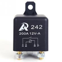 1pc Brand New 200A Automotive Relays Black Car Relay Used for Construction Vehicles Cars and Other Large Vehicles(China (Mainland))