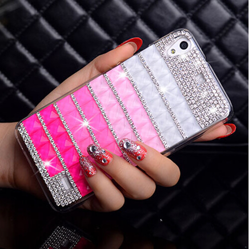 New Luxury Square Rhinestone Phone Case For Sony Xperia Z L36h Xperia SP M35h Case Diamond Mobile Phone Case(China (Mainland))