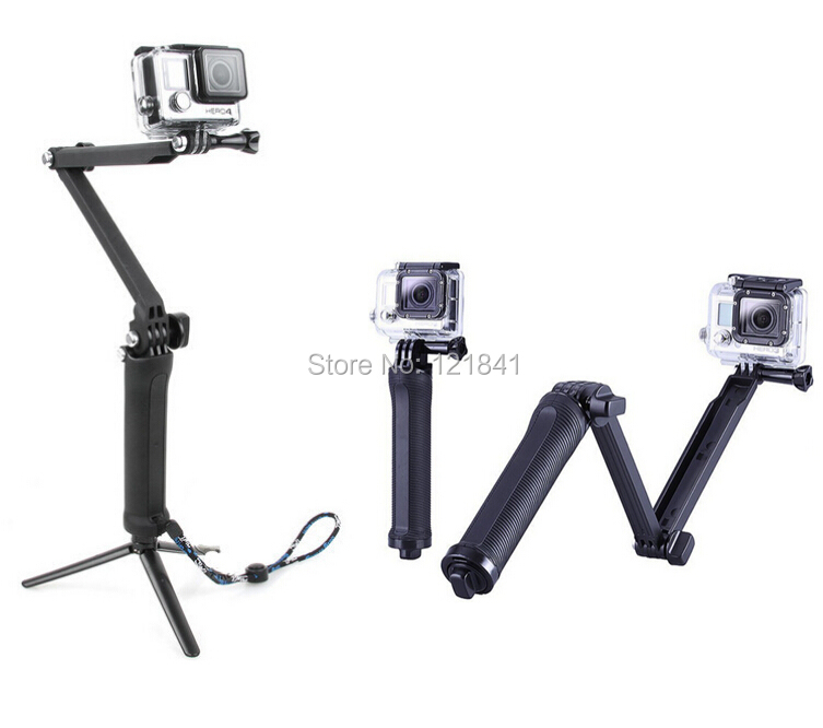 Gopro Tripod 3-way Folding Arm Monopod Tripod Handheld Grip Stick For GoPro Hero 4/ Hero 3+/Hero 3/SJ4000 /xiaomi yi <br><br>Aliexpress