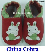 free shipping genuine leather baby pre walk shoes rabbit(China (Mainland))