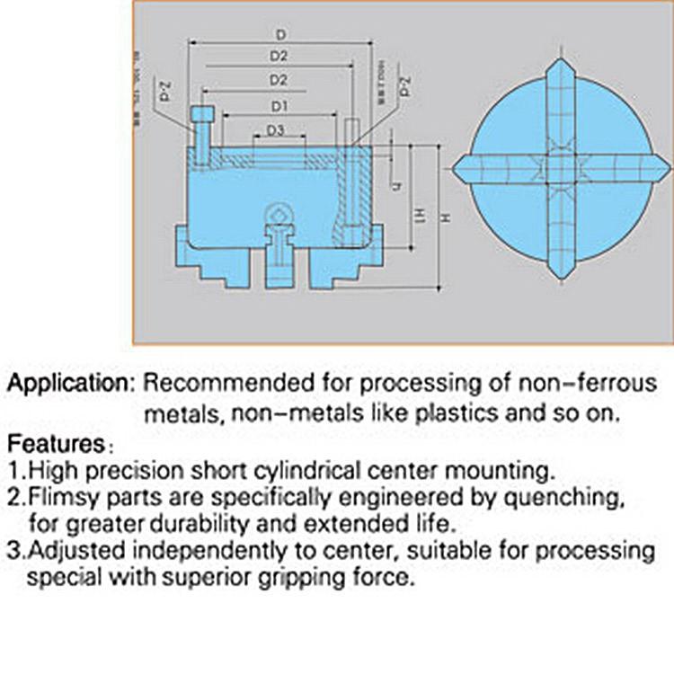 Купить 4 кулачковый патрон токарный независимый чак K72-80 80 мм руководство M6x3 для сварки позиционера Turntable1PK аксессуары для токарный станок