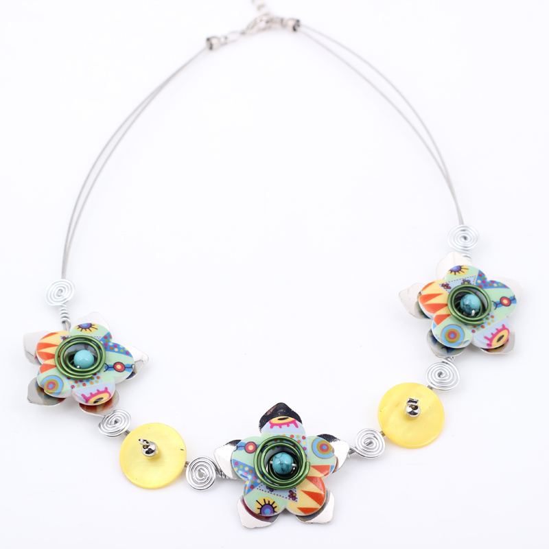 Bonsny New 2016 Spring style necklace flowers iron fashion store necklace & pendant for girls woman lovely chain necklace(China (Mainland))