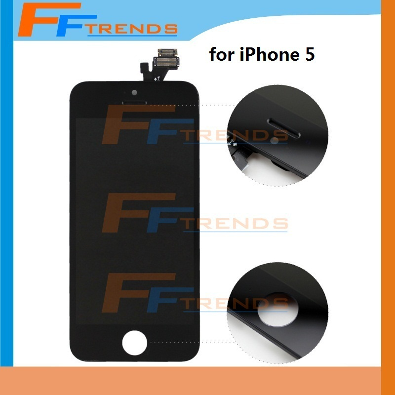 100% Guarantee Original LCD Touch Screen + Display Digitizer Assembly Replacement for iPhone 5 5G Black & White Wholesale(China (Mainland))