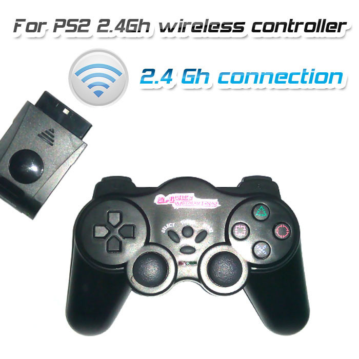 Top quality controller 2.4Ghz wireless gamepad for playstation 2 ps2 support TURBO FUCTION 3pcs AAA battery(China (Mainland))